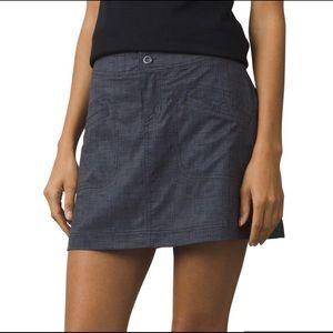 Prana ┃Lena Skorts Skirt Gray Pattern EUC
